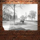 Trees Carriage Retro Vintege Poster 32x24 inch