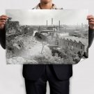 Factory River New Jersey Retro Vintege Poster 36x24 inch