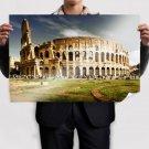 Colosseum Roman Arena Ruins Retro Vintege Poster 36x24 inch
