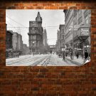 Buildings Street Carriage Retro Vintege Poster 36x24 inch