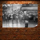New York Labor Day Parade Rain Umbrella Retro Vintege Poster 36x24 inch