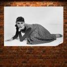 Audrey Hepburn Retro Vintege Poster 36x24 inch
