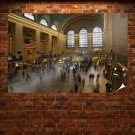 Building People New York Grand Central Station  Poster 36x24 inch