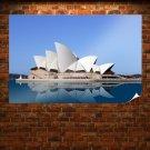 Sydney Opera House Reflection Blue  Poster 36x24 inch