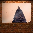 Building Birds Temple  Poster 36x24 inch