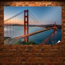 Golden Gate Bridge Bridge San Francisco Ocean  Poster 36x24 inch