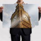 London Big Ben Clock Tower  Poster 36x24 inch