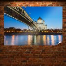 Bridge Buildings River Lights  Poster 36x24 inch