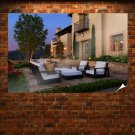 Patio Chair House  Poster 36x24 inch