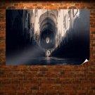Church Hall Corridor  Poster 36x24 inch