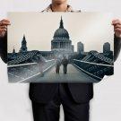 Millennium Bridge Bridge Building  Poster 36x24 inch