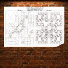 Tic Tac Toe White Strategy  Poster 36x24 inch