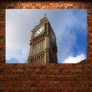 Big Ben London Tower  Poster 36x24 inch