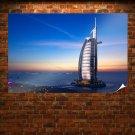 Burj Al Arab Hotel Dubai Sunset  Poster 36x24 inch