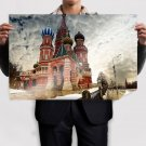 Building St Basil S Cathedral Red Square Moscow  Poster 36x24 inch