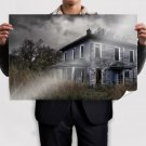 Old Old House Abandoned Abandoned House House Hdr Urban Decay  Poster 36x24 inch