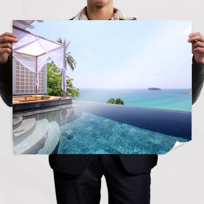 Pool Ocean  Poster 32x24 inch