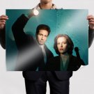 The X Files David Duchovny Flashlight Redhead Gillian Anderson Tv Movie Poster 32x24 inch