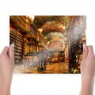 Library Books Hdr  Poster 24x18 inch