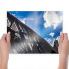 Roller Coaster Clouds  Poster 24x18 inch
