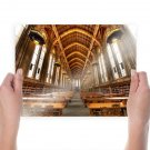 Library Books Building Tables  Poster 24x18 inch