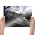 Lazienki Palace Mansion Reflection Palace Baroque Warsaw Poland  Poster 24x18 inch