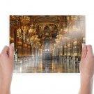 Palais Garnier Opera House Chandeliers Paris France  Poster 24x18 inch