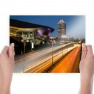 Bmw Buildings Freeway Highway Timelapse Night  Poster 24x18 inch
