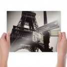 Eiffel Tower Paris Signs  Poster 24x18 inch