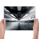 Bridge Ocean Buildings  Poster 24x18 inch