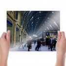 Train Station Motion Blur Arch Train  Poster 24x18 inch