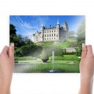 Castle Garden Mansion Water Water Fountain Fountain  Poster 24x18 inch