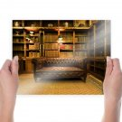 Sofa Couch Library Room  Poster 24x18 inch
