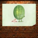 Watermelon Poop  Poster 36x24 inch