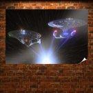 Star Trek Stars Enterprise Spaceship Starship Stars Light  Poster 36x24 inch