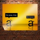 Arial Helvetica Orange  Poster 32x24 inch
