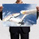 Star Trek Enterprise Spaceship Starship Fire Re Entry Atmosphere  Poster 36x24 inch