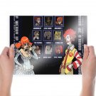 Fast Food Street Fighter  Poster 24x18 inch