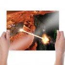 Star Trek Starship Borg Laser Battle Spaceship  Poster 24x18 inch