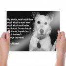Dog Woof Jack Russell  Poster 24x18 inch