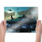 Base Station Spaceships  Poster 24x18 inch