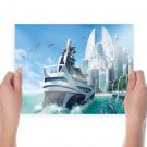 Yacht Boat Future  Poster 24x18 inch