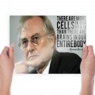 Richard Dawkins Face Cells Brain  Poster 24x18 inch