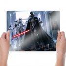 Darth Vader Star Wars Lightsaber Stormtrooper  Poster 24x18 inch