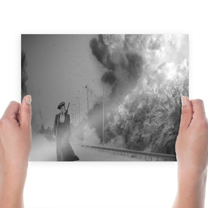 Explosion Blast  Poster 24x18 inch