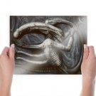 Alien Xenomorph Drawing  Poster 24x18 inch