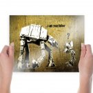 Star Wars Father At At  Poster 24x18 inch