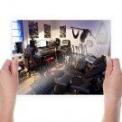 Room Studio Guitar Drums Keyboard Tv Movie Art Poster 24x18 inch