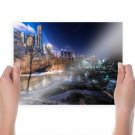 Central Park New York Buildings Skyscrapers Park Trees Pond Tv Movie Art Poster 24x18 inch
