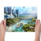 Buildings Skyscrapers Boat River Tv Movie Art Poster 24x18 inch